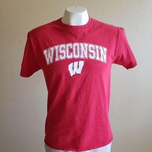 NCAA Wisconsin University Red Medium T-Shirt
